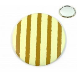Miroir de poche rauyés jaune