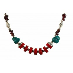 Collier ethnique tibet coloré