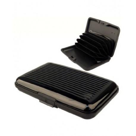 Porte cartes aluminium noir