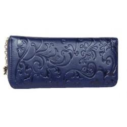 Portefeuille cuir bleu