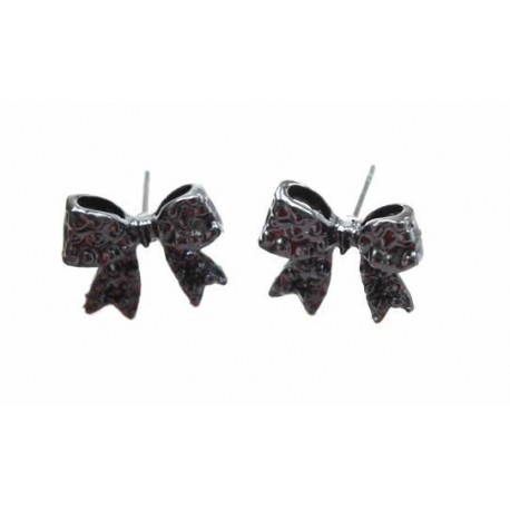 Boucles d'oreilles Noeuds noirs