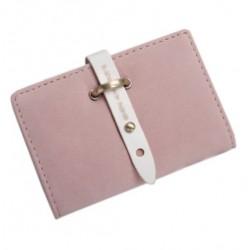Porte cartes suédine rose poudré