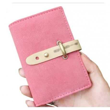 Porte cartes rose pour sac à main