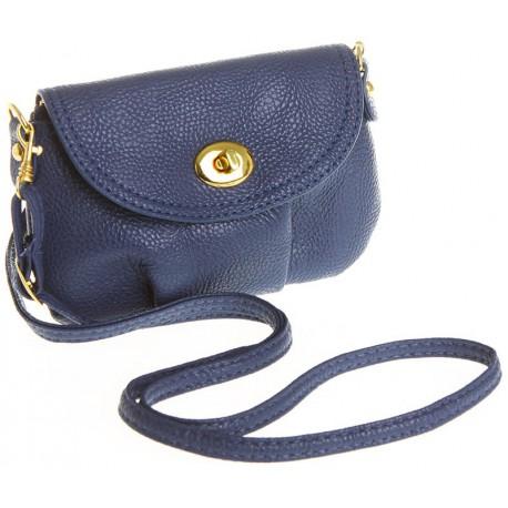 Petit sac à main vintage bandoulière bleu