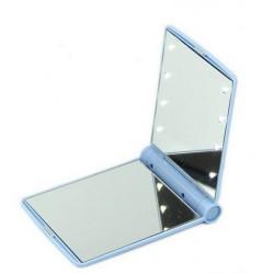 Miroir de sac lumineux bleu ciel