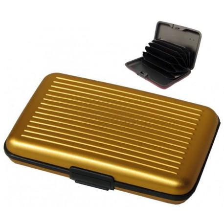 Boitier porte cartes aluminium doré