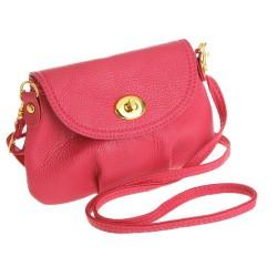 Petit sac bandoulière rose foncé