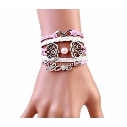Bracelet rose Love multiliens
