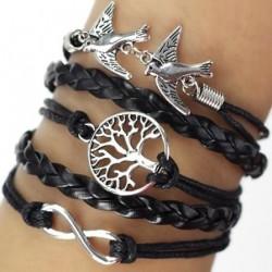 """Bracelet multi liens noir """"Nature"""""""