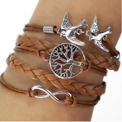 "Bracelet multi liens marron ""Nature"""