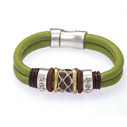 Bracelet vert fermeture magnétique