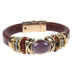 Bracelet bohème améthyste