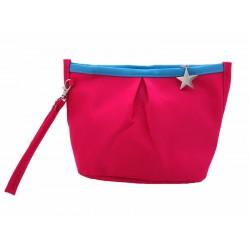 Trousse pour sac à main bicolore rose/bleu
