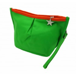 Trousse bicolore vert/orange