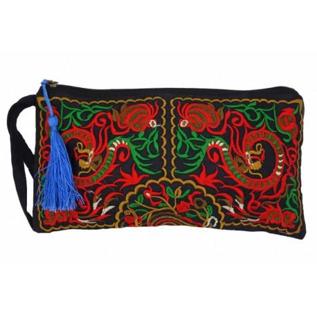 Pochette sac à main ethnique brodée