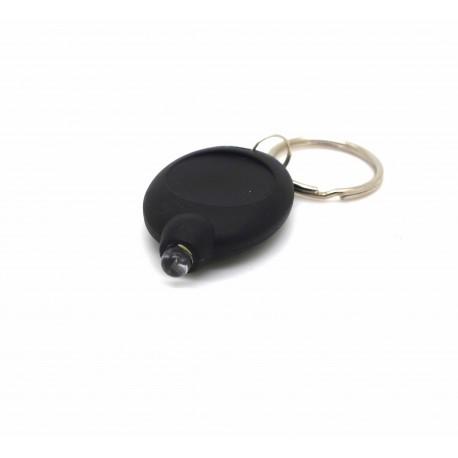 petite lampe porte-clés puissante noire à led