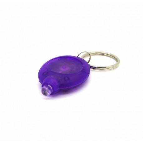 Petite lampe led porte cles violette