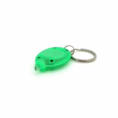 Micro lampe porte-clés verte à led