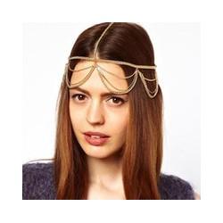Headband chaînettes dorées