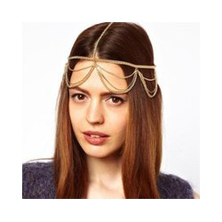 headband chaines dorées tombantes