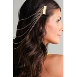 double peignes cheveux reliés par des chaines