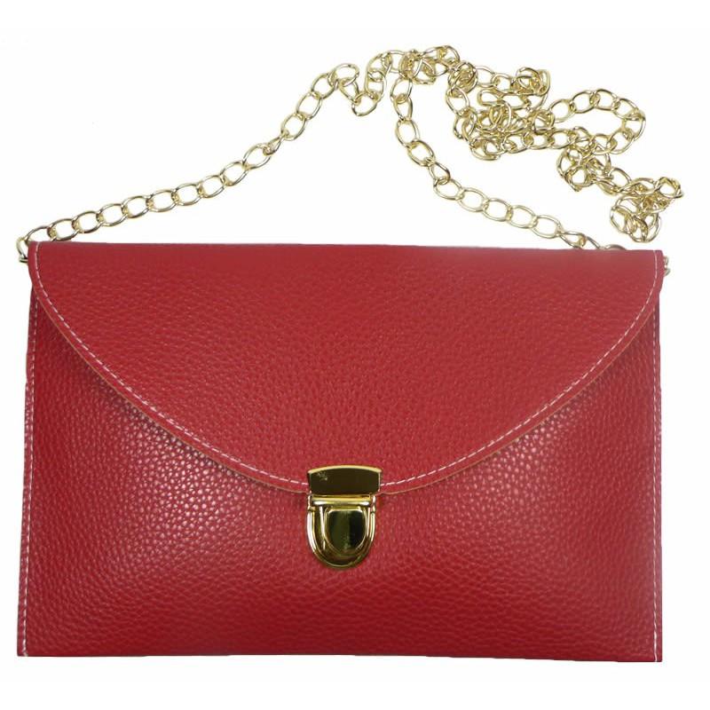 Sac main pochette rouge cha ne dor e - Pochette rangement pour sac a main ...