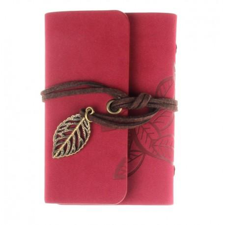 Porte cartes de fid lit rouge lien feuille for Porte carte de fidelite