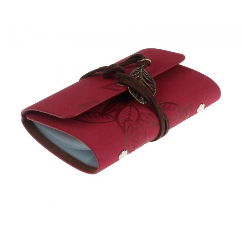 Porte Cartes De Fidélité Rouge Lien Feuille - Porte carte de fidélité