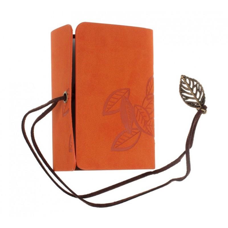 Porte cartes de fid lit orange d coration feuilles for Porte carte de fidelite