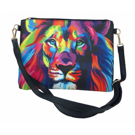 Sac à main pochette Lion pop art