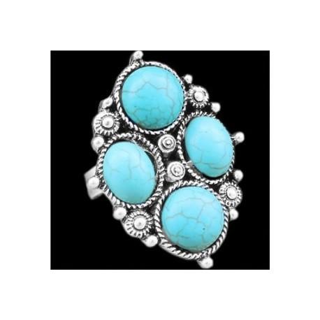 Bague bohème turquoise