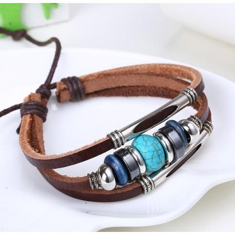 Bracelet cuir bohème