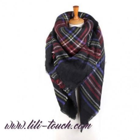 d1703d320c1 Foulard plaid pashmina tartan grand et doux laine
