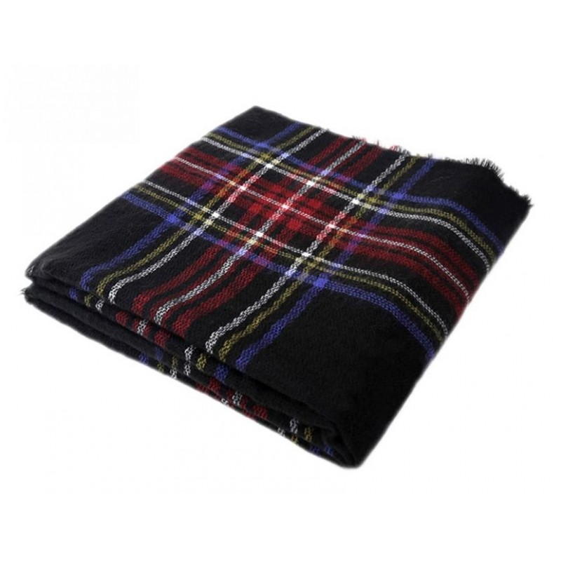 foulard plaid pashmina tartan grand et doux laine. Black Bedroom Furniture Sets. Home Design Ideas