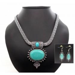 Parure turquoise ethnique