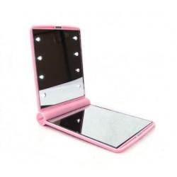 Miroir de sac lumineux rose