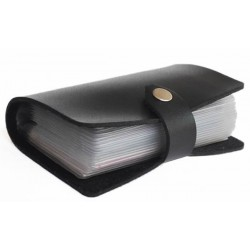 Porte cartes à feuillets noir