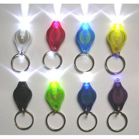 Micro Lampe LED porte-clé couleurs